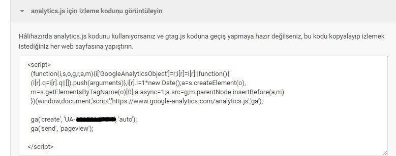 google analytics kodu ekleme-005