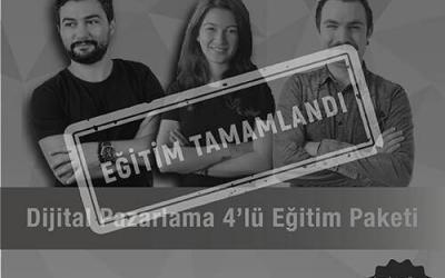 Dijital Pazarlama Eğitim Paketi / 4 Eğitim [İzmir]