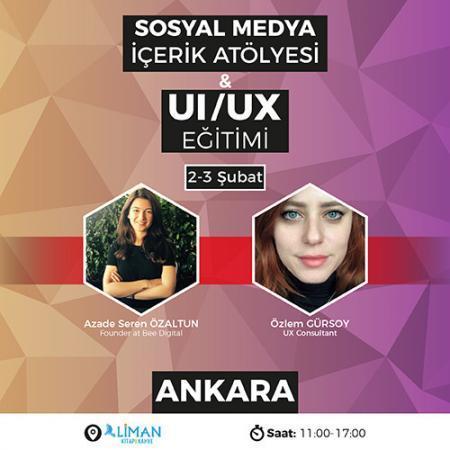 Sosyal Medya İçerik Atölyesi & UI/UX Eğitimi [Ankara]
